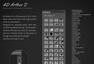 AD Artbox 2 – Herramientas de photoshop usadas por Disney Studios
