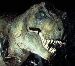 La escultura del T-Rex de Jurassic Park